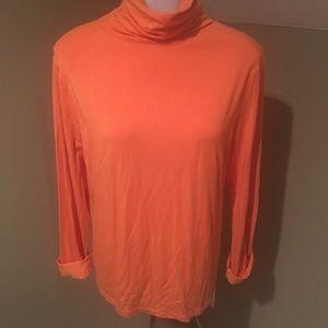 Jones NY Women's Orange Turtle Neck Top/SZ L